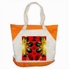 Abstract Digital Design Accent Tote Bag