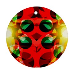 Abstract Digital Design Round Ornament (two Sides)