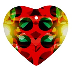 Abstract Digital Design Heart Ornament (two Sides)