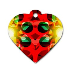 Abstract Digital Design Dog Tag Heart (one Side)