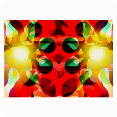 Abstract Digital Design Large Glasses Cloth