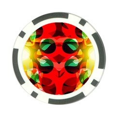Abstract Digital Design Poker Chip Card Guard (10 Pack)