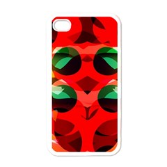 Abstract Digital Design Apple Iphone 4 Case (white)