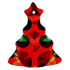 Abstract Digital Design Christmas Tree Ornament (two Sides)