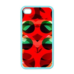 Abstract Digital Design Apple Iphone 4 Case (color)