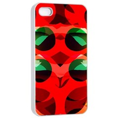 Abstract Digital Design Apple Iphone 4/4s Seamless Case (white)