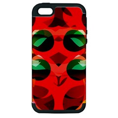 Abstract Digital Design Apple Iphone 5 Hardshell Case (pc+silicone)