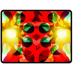 Abstract Digital Design Double Sided Fleece Blanket (large)