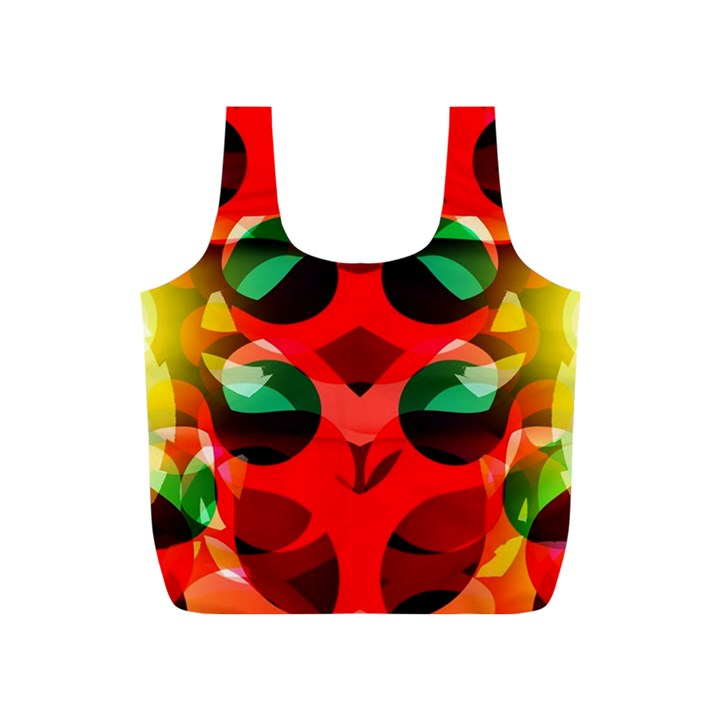 Abstract Digital Design Full Print Recycle Bags (S)