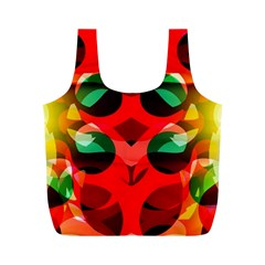 Abstract Digital Design Full Print Recycle Bags (m)