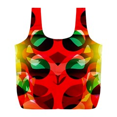 Abstract Digital Design Full Print Recycle Bags (l)