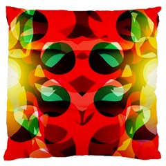 Abstract Digital Design Large Flano Cushion Case (two Sides)