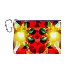 Abstract Digital Design Canvas Cosmetic Bag (m)