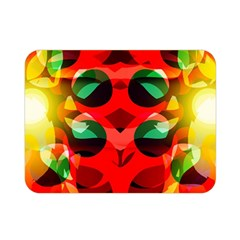 Abstract Digital Design Double Sided Flano Blanket (mini)