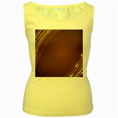 Abstract Background Women s Yellow Tank Top