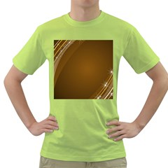 Abstract Background Green T Shirt