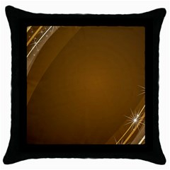 Abstract Background Throw Pillow Case (black)