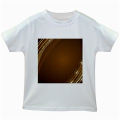 Abstract Background Kids White T Shirts