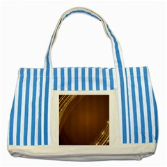 Abstract Background Striped Blue Tote Bag