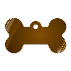 Abstract Background Dog Tag Bone (two Sides)