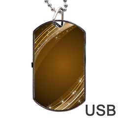 Abstract Background Dog Tag Usb Flash (two Sides)