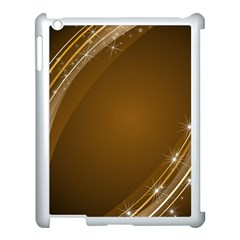 Abstract Background Apple Ipad 3/4 Case (white)