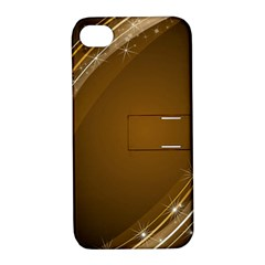 Abstract Background Apple Iphone 4/4s Hardshell Case With Stand