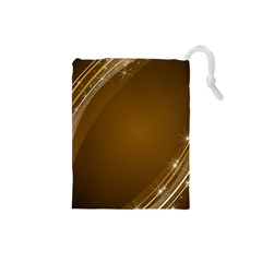 Abstract Background Drawstring Pouches (small)