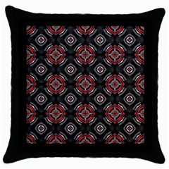 Abstract Black And Red Pattern Throw Pillow Case (black)