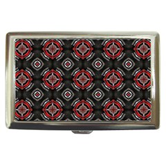 Abstract Black And Red Pattern Cigarette Money Cases