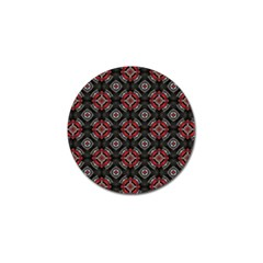 Abstract Black And Red Pattern Golf Ball Marker (10 Pack)