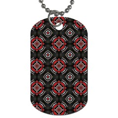 Abstract Black And Red Pattern Dog Tag (two Sides)