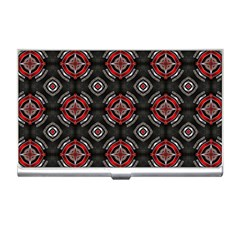 Abstract Black And Red Pattern Business Card Holders