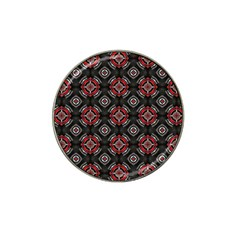 Abstract Black And Red Pattern Hat Clip Ball Marker