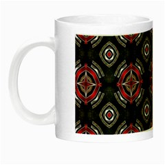 Abstract Black And Red Pattern Night Luminous Mugs