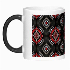 Abstract Black And Red Pattern Morph Mugs
