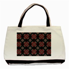 Abstract Black And Red Pattern Basic Tote Bag