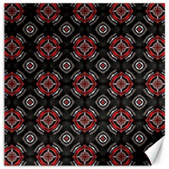 Abstract Black And Red Pattern Canvas 12  X 12