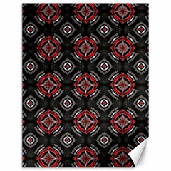 Abstract Black And Red Pattern Canvas 12  X 16