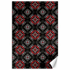 Abstract Black And Red Pattern Canvas 12  X 18