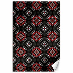 Abstract Black And Red Pattern Canvas 20  X 30