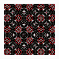 Abstract Black And Red Pattern Medium Glasses Cloth (2 Side)