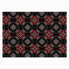 Abstract Black And Red Pattern Large Glasses Cloth