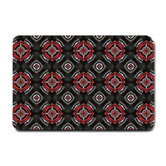 Abstract Black And Red Pattern Small Doormat