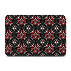 Abstract Black And Red Pattern Plate Mats