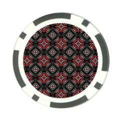 Abstract Black And Red Pattern Poker Chip Card Guard