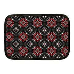 Abstract Black And Red Pattern Netbook Case (medium)