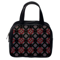 Abstract Black And Red Pattern Classic Handbags (one Side)