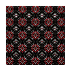 Abstract Black And Red Pattern Face Towel