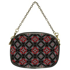 Abstract Black And Red Pattern Chain Purses (one Side)
